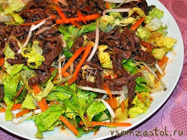 салат по тайский с говядиной рецепт с фото