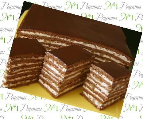 Торт без выпечки рецепт фото