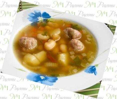 фасолевый суп из консервированной фасоли с тушенкой рецепт