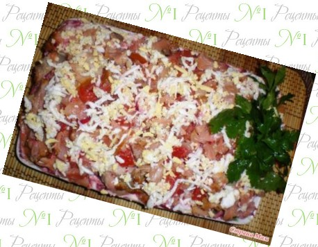 рецепты салата с рыбой фото рецепт