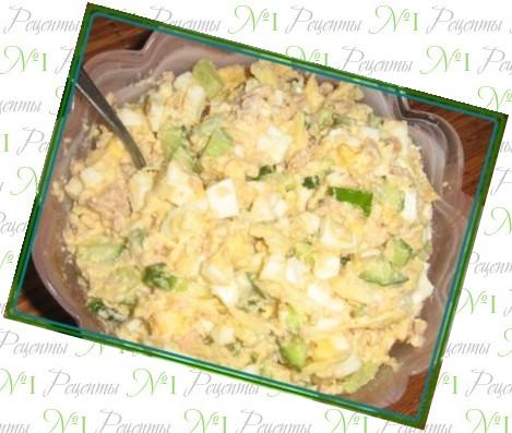 рецепт салата из консервов мимоза рецепт
