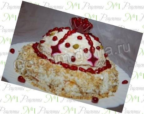 рецепты салатов шапка мономаха с фото