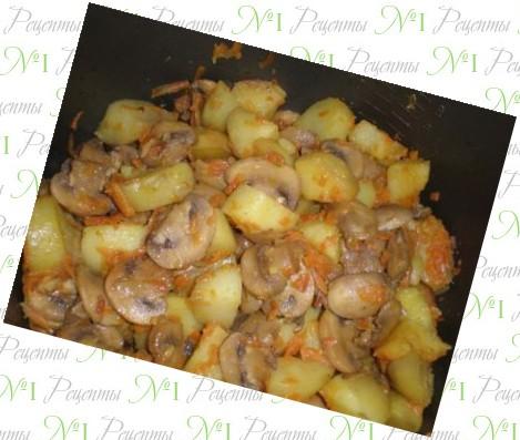 Картошка с грибами вкусные рецепты