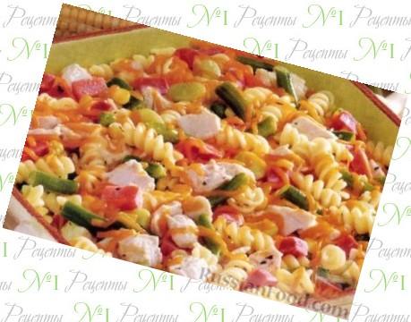 курица в духовке с макаронами рецепты с фото