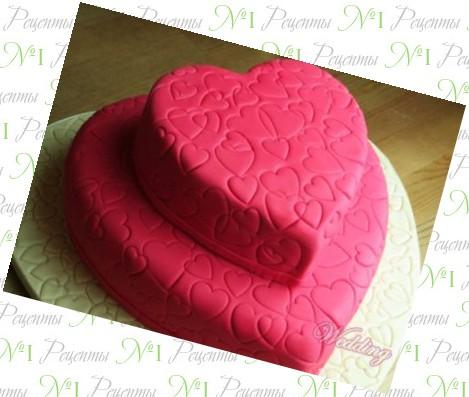 Рецепт торта в виде сердца рецепт с фото