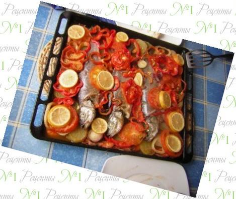 крупная рыба в духовке рецепты с фото
