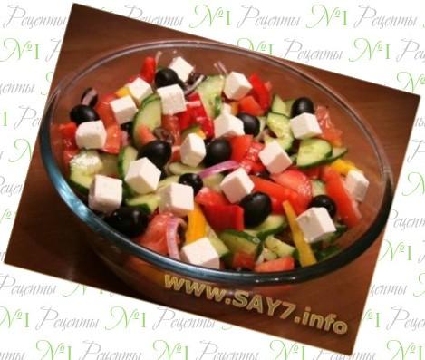 салат греческий рецепт с фото дома